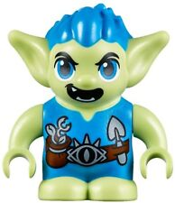 LEGO Elves Guxlin the Goblin Minifigure From Set 41186 - Green Troll Blue Hair