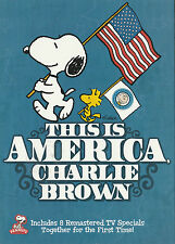 THIS IS AMERICA, CHARLIE BROWN 2-DVD Set New but UNSEALED Region 1