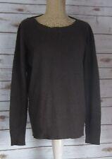 UNBRANDED Womens Medium Brown Scoop Neck Long Sleeve Cashmere Sweater M  Career