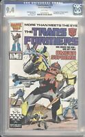 Marvel Comics TRANSFORMERS #19 CGC 9.4 NM (1986) White Pages