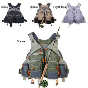 Fly Fishing Vest Mutil-Pockets General Size Adjustable Mesh Vest Outdoor Jacket