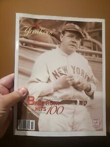 1995 New York Yankees Yearbook Babe Ruth Hits 100 Cover