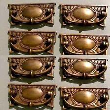 8 heavy vintage old style handles door brass furniture antiques 95 mm pulls