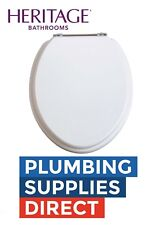 * Heritage - Soft Close  Toilet Seat White Ash with Chrome Hinges - FWA101