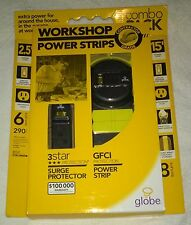 WorkShop Power Strips Contractor Grade Power Strip Surge Protetion Globe NE