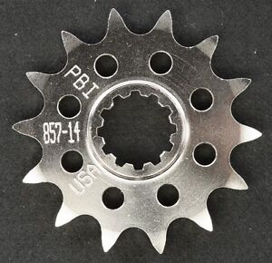 PBI - 857-14 -  Front Countershaft Sprocket, 14T - Made In USA