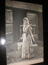 Old postcard Milkmaid Tuck Country Life series c1900s
