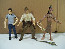LOT OF 3 INDIANA JONES CRYSTAL SKULL ACTION FIGURES MUTT WILLIAMS UGHA INDIE