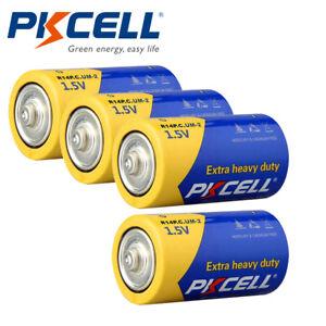 4pcs Size C Batteries 1.5V R14P E93 UM2 PC1400 Carbon-Zinc for Wall Clock
