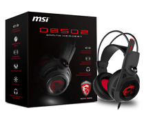NEW MSI Gaming Headset DS502 with Microphone Enhanced Virtual 7.1 Surround Sound