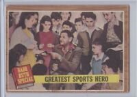 1962 Topps 143 Babe Ruth Special 9 Greatest Sports Hero Yankees Vintage Baseball