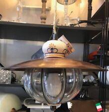 Siru Collezione Vecchia Fattoria VS 214030 Lampada cristallo liscio + ceramica