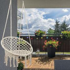 New listing Hanging Cotton Rope Macrame Hammock Chair Swing Outdoor Indoor Garden Beige