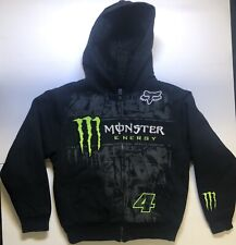 FOX 4 RACING MONSTER ENERGY RICKY CARMICHAEL ZIP UP HOODIE Kids SIZE SMALL