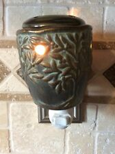 Electric Outlet Verdigris Tart Warmer/Night Light~On/Off Switch