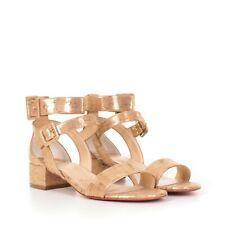 CHRISTIAN LOUBOUTIN 895$ Gold Cork Multipot 25 Sandals