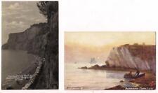 2 PC Isle of Wight~Tuck Oilette by Richardson & RPPC Appley Bathing Beach~c1910