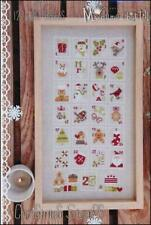 Christmas Stamps by Madame Chantilly cross stitch pattern
