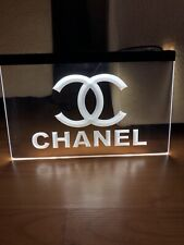 CHANEL LED NEON LIGHT SIGN SIZE 8x12, VERY UNIQUE, COLLECTIBLE.