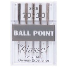 SIZE 70/10 SEWING MACHINE NEEDLE - KLASSE BALL POINT NEEDLES FINE - PACK 5 BNEW