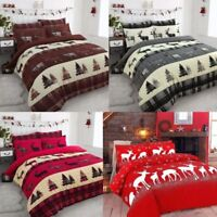 New & Stylish Cotton Stag Duvet Cover Set Flannelette Bedding Winter Forest