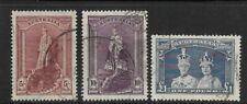 Australia Scott #177-#179 used 1938, high set values Queen Elizabeth & King Geor