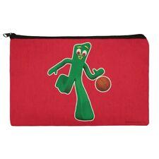 Sporty Gumby Basketball Player Clay Art Pencil Pen Organizer Zipper Pouch Case