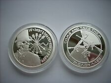 1 OZ SILVER COIN PROOF DEBT AND DEATH-AG-47 DOUBLE OBVERSE .999 SILVER PROOF