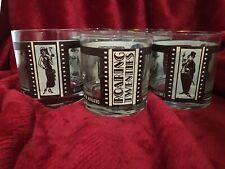 Laurel & Hardy Roaring Twenties Vintage Cocktail Glasses 1920's Actors- Set of 5