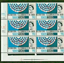 1965 ITU 1s6d PHOSPHOR Stamp CYL Block of 6 No Dot REF:QT32