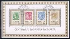 Malta gestempeld 1985 block 8 - Zegel op zegel (XG016)