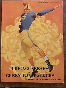 1952 Green Bay vs Bears Football Program/GEORGE BLANDA/BULLDOG TURNER-MINT