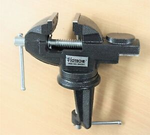 2'' inches Jaws Table Bench Top Vise Vice Swivel Base with Anvil