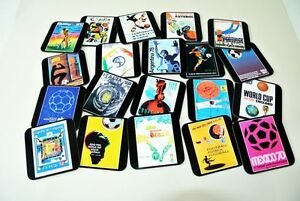 Every Fifa World Cup 1930 2014 Poster Cover COASTER Set (20)