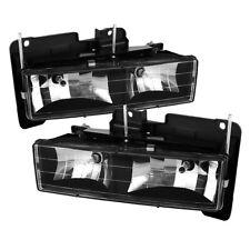 Chevy 88-98 GMC C/K Pickup 1500/2500/3500 Black Housing Replacement Headlights