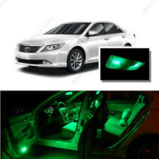For Toyota Camry W Sunroof 12-16 Green LED Interior Kit +Green License Light LED