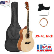 39-41 Inch Cutaway Acoustic Guitar 20 Frets Beginner Kit for Children Adult US