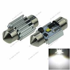 2X White 31MM 1 CREE LED Festoon Dome Light Bulb Non-polar 3175 12-24V I029