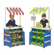 Melissa & Doug Grocery Store & Lemonade Stand Reversible awning, 9 bins NEW