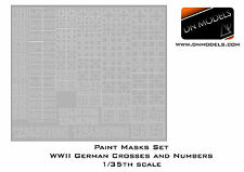 DN Models 1/35 Paint Mask German Crosses Numbers Stencil WWII Nazi Early + Late
