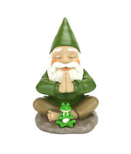 Fairy Garden Gnome Zen Gnome and Zen Frog - Namaste– Tranquility & Peacefulness