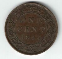 CANADA 1894 THIN 4 VARIETY LARGE CENT ONE CENT QUEEN VICTORIA COIN