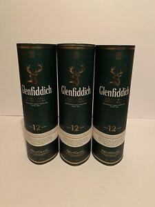 Glenfiddich Empty Bottle Case/Carrier Lot of 3