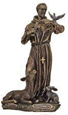 St. Francis With Animals Statue, In Cold Cast Bronze, 8.5""