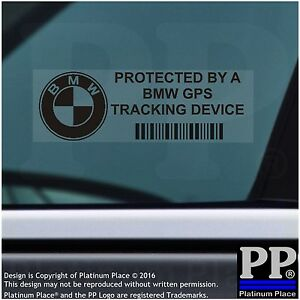 5 x BMW GPS Tracking Device Security BLACK Stickers,3 4 Series Car Alarm Tracker