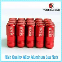 20x Red ClOSED END M12x1.5 50mm for TOYOTA FORD MAZDA MITSUBISHI Wheel Lug Nuts