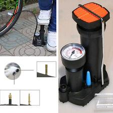 Black MOTO Bike Pressure Gauge Portable Wheel Tyre Tire Tube Inflator Pedal Pump