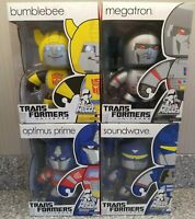 *Brand New* Transformers Mighty Muggs Lot Optimus Megatron Bumblebee SoundWave