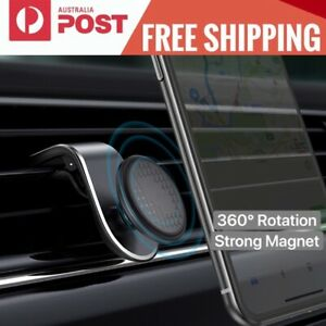 Universal Magnetic Car Phone Holder 360° Rotation Air Vent Mount for Smartphone