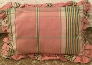 Pink Plaid Boudoir Pillow with Ruffle